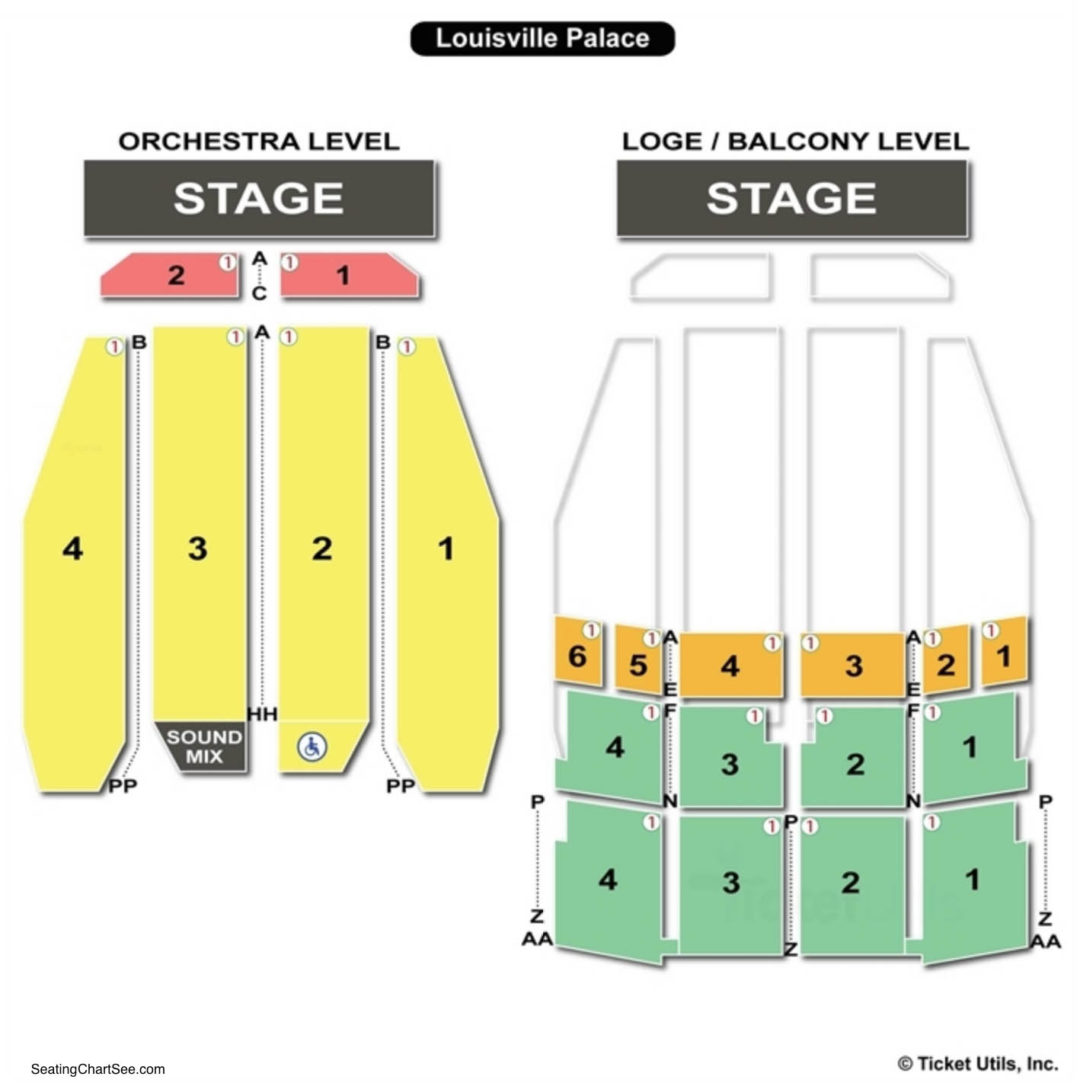 Louisville Palace Seating Chart Ky