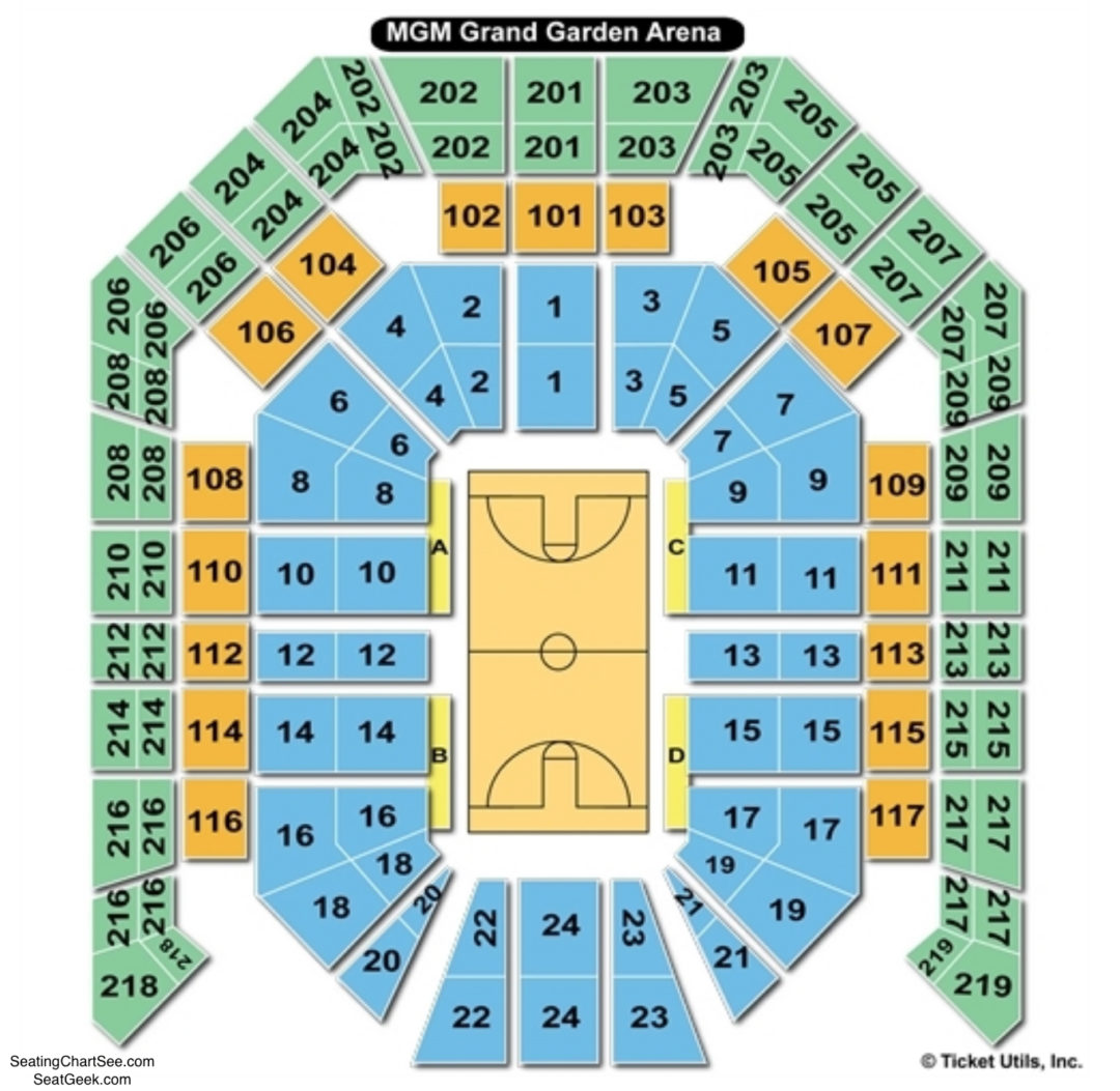 MGM Grand Garden Arena Seating Chart Seating Charts Tickets