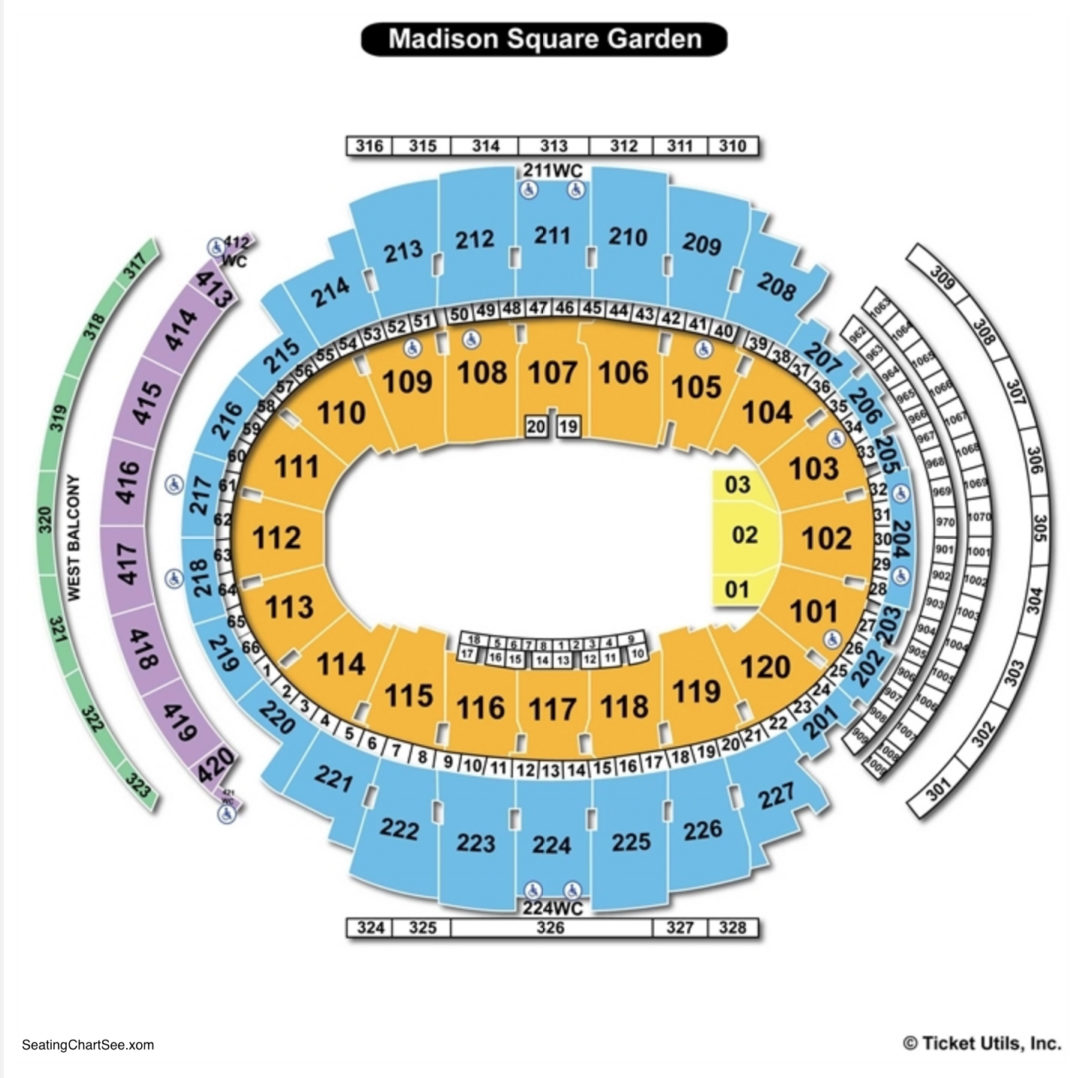 madison square garden bull riding seating chart - Madison Square Garden Seating Chart