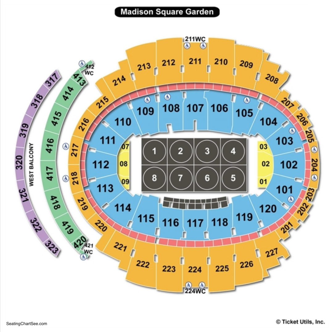 madison square garden college wrestling seating chart - Madison Square Garden Seating Chart