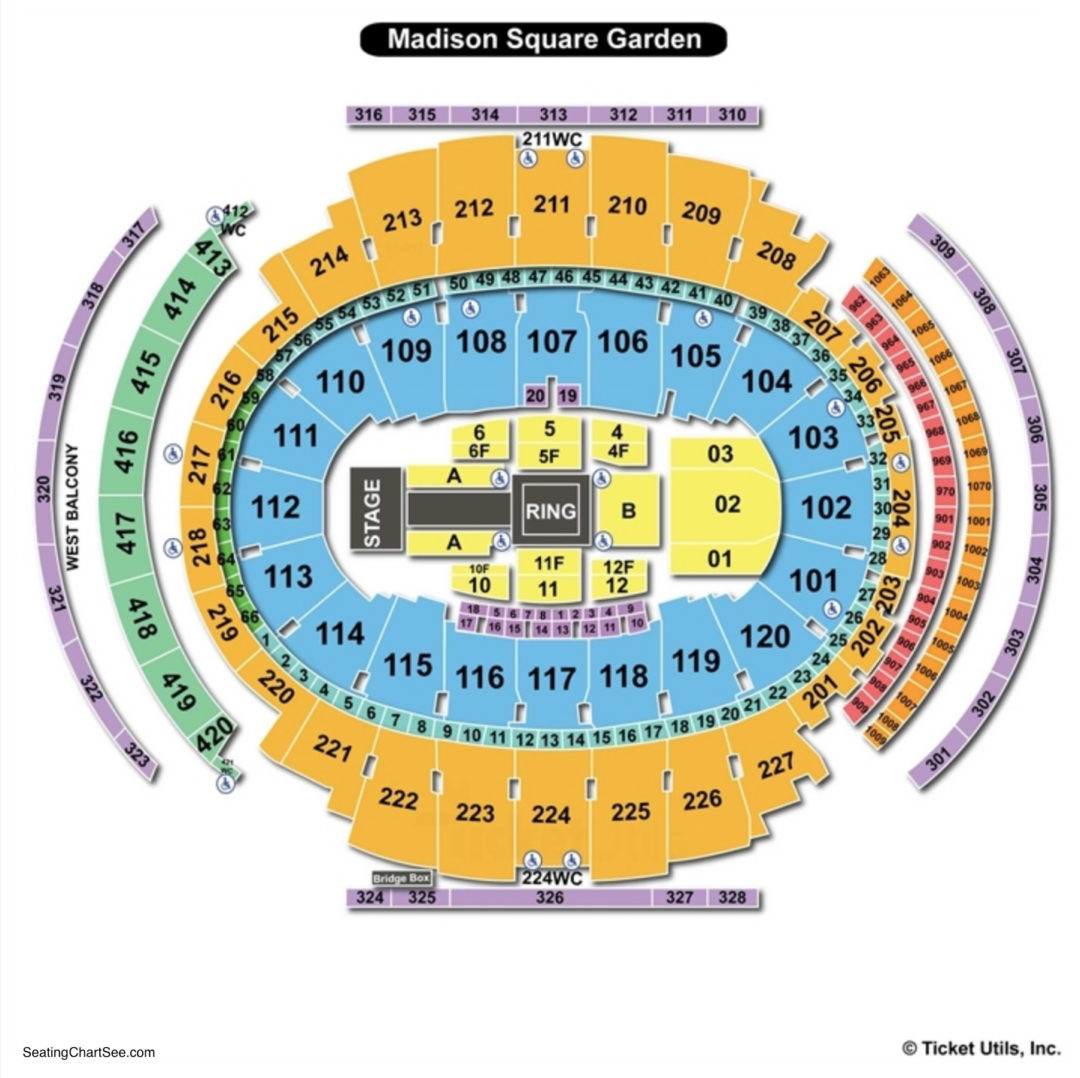 Madison Square Garden Seating Chart Seating Charts Amp Tickets