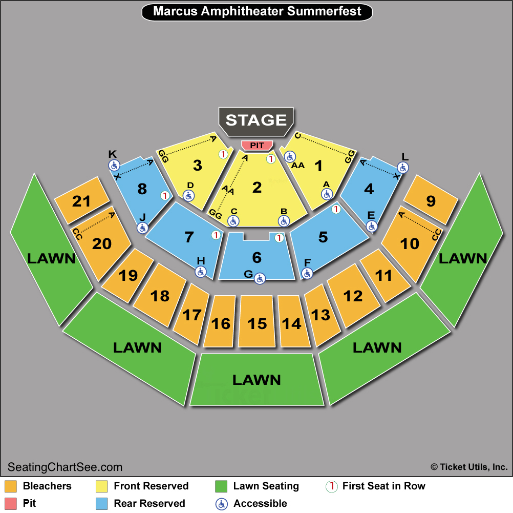 American family insurance amphitheater seating chart seating
