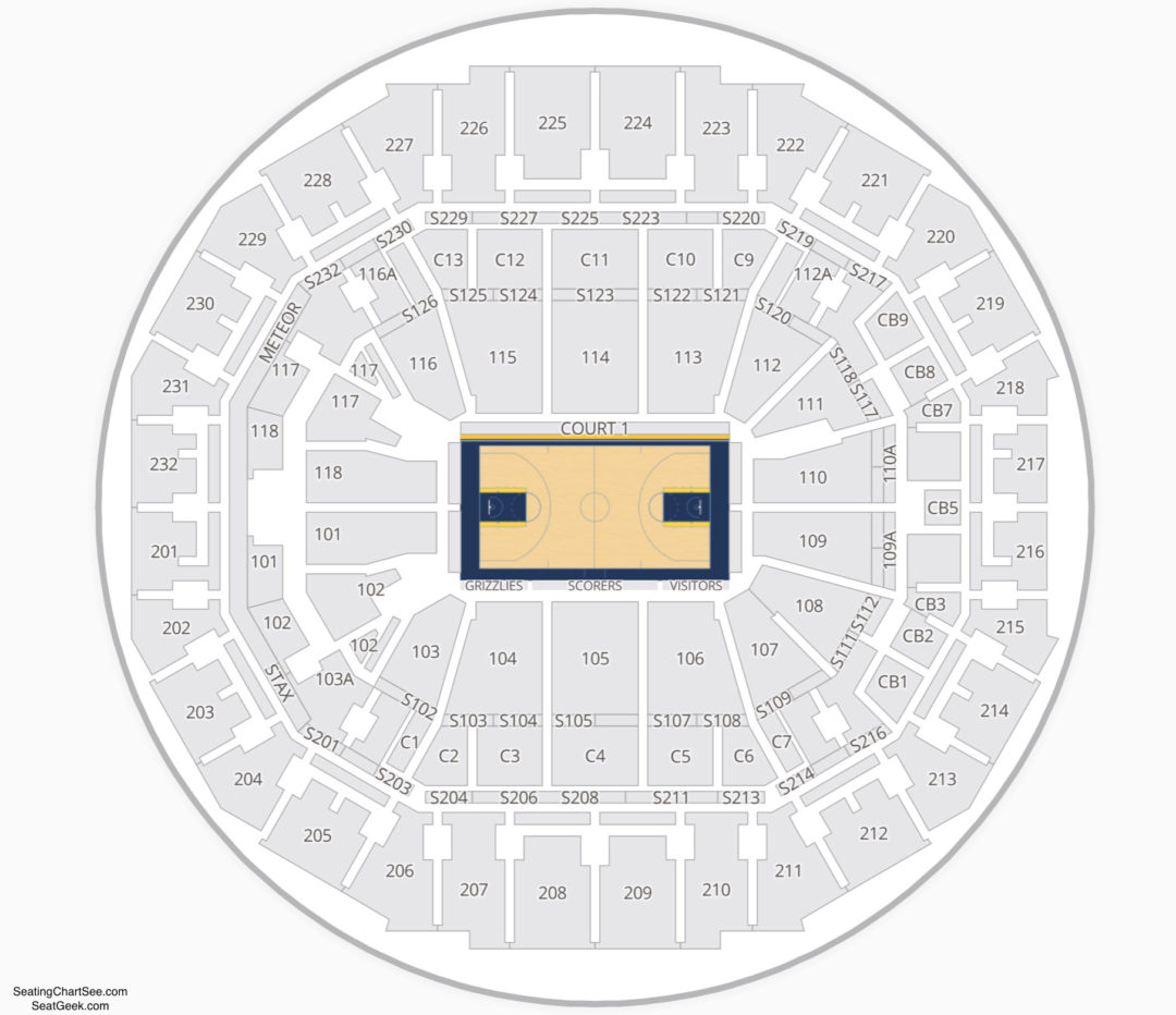 Fedexforum Seating Chart Seating Charts Tickets