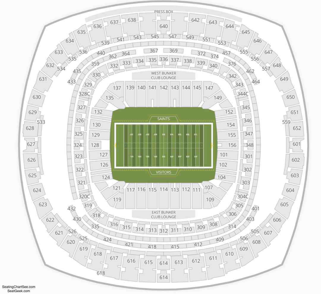 Mercedes benz superdome seating chart seating charts for Mercedes benz tickets