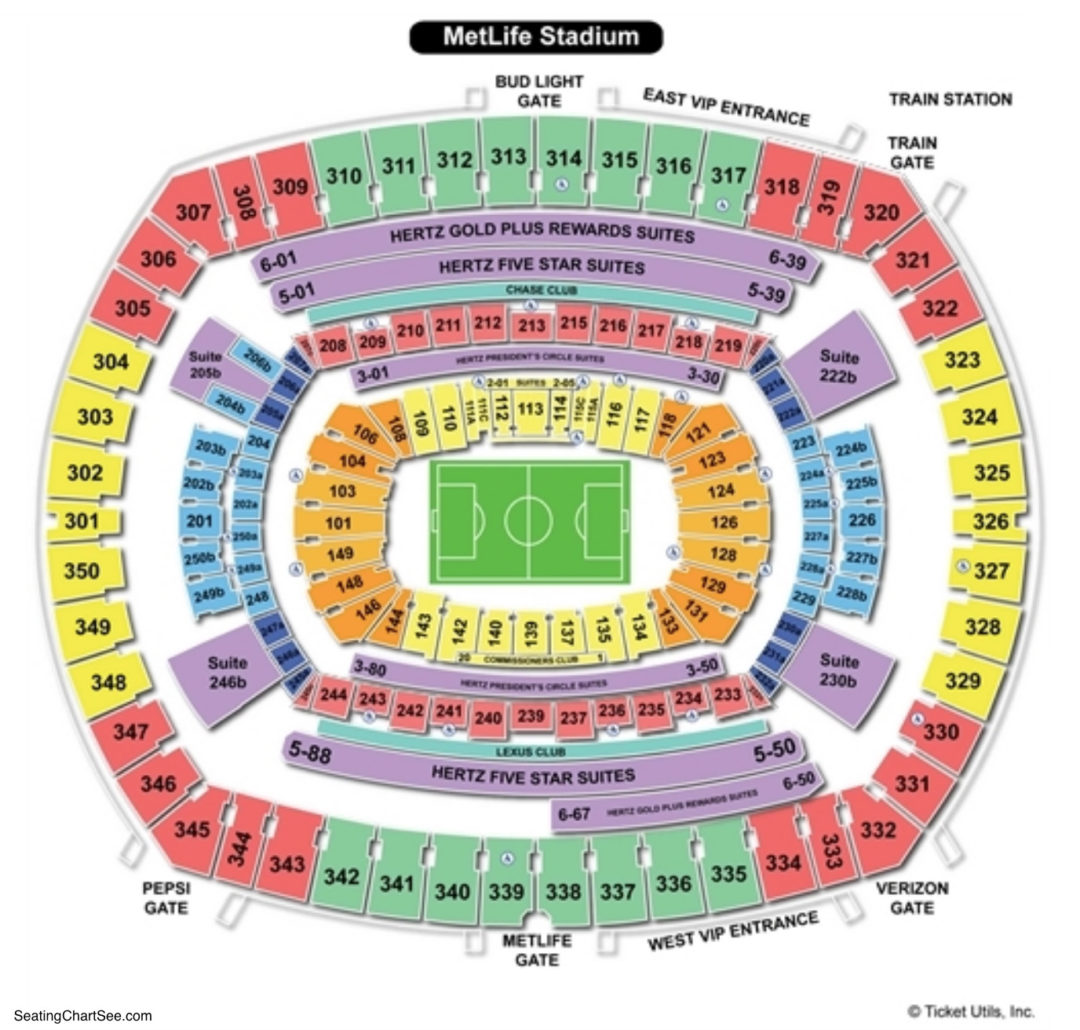 Metlife stadium seating chart seating charts tickets
