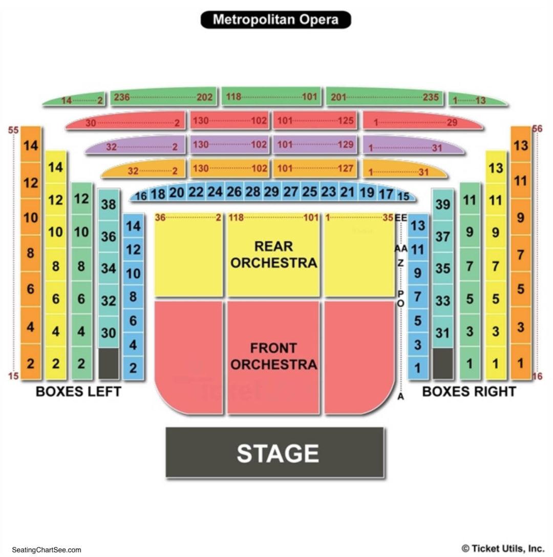 Metropolitan opera seating chart seating charts tickets