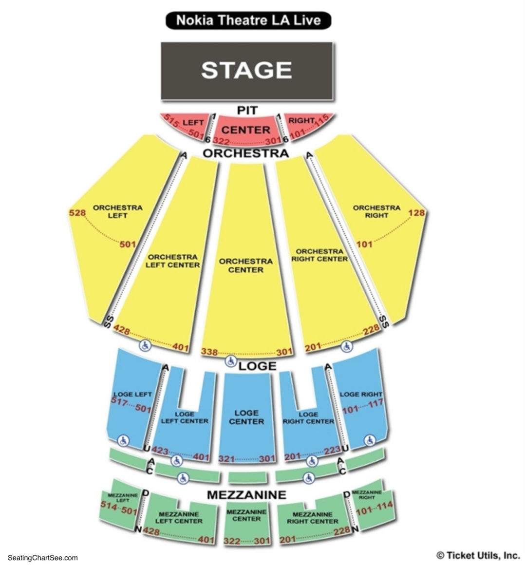 microsoft theater seating chart seating charts tickets