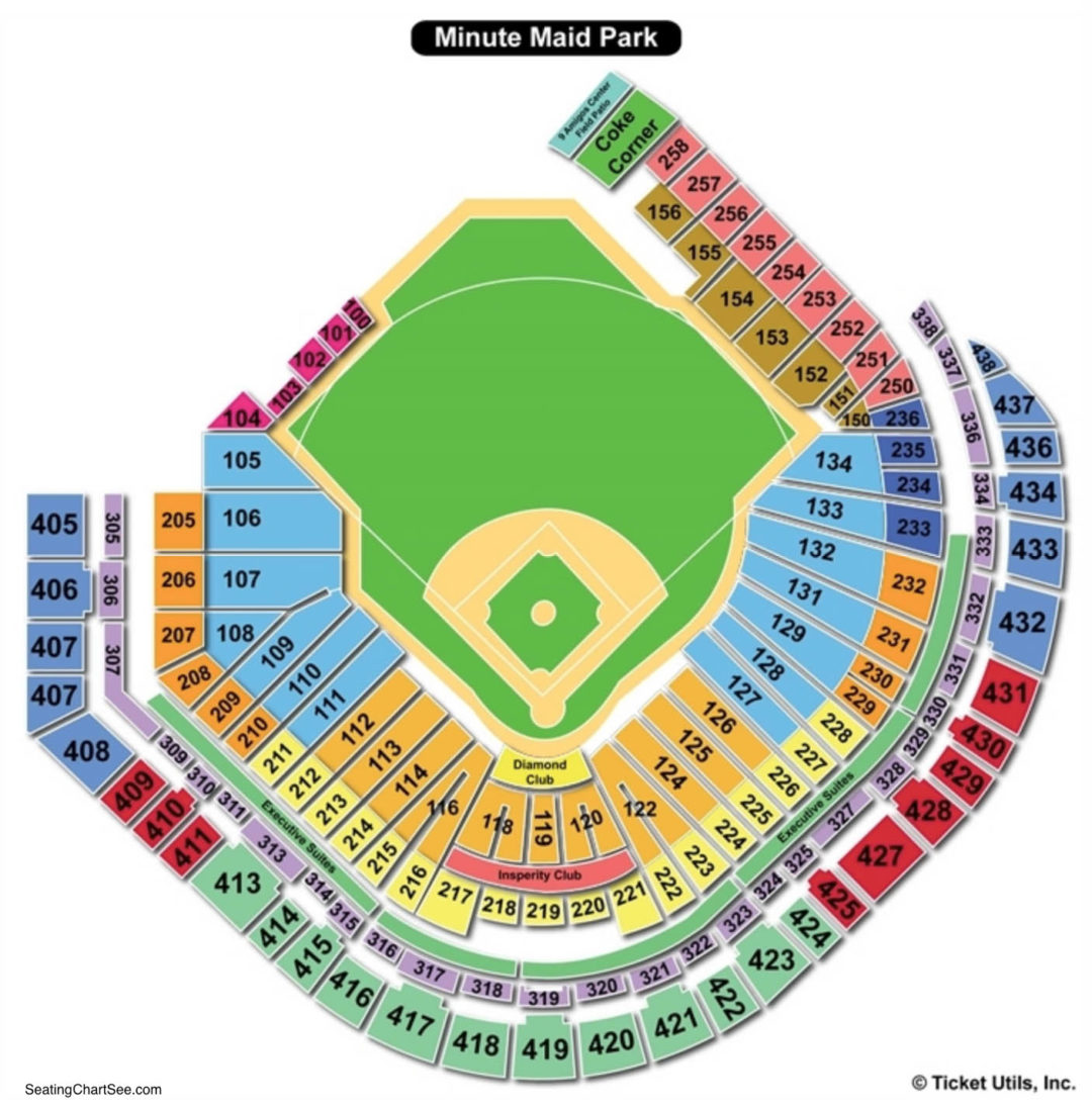 Minute maid park seating chart seating charts tickets