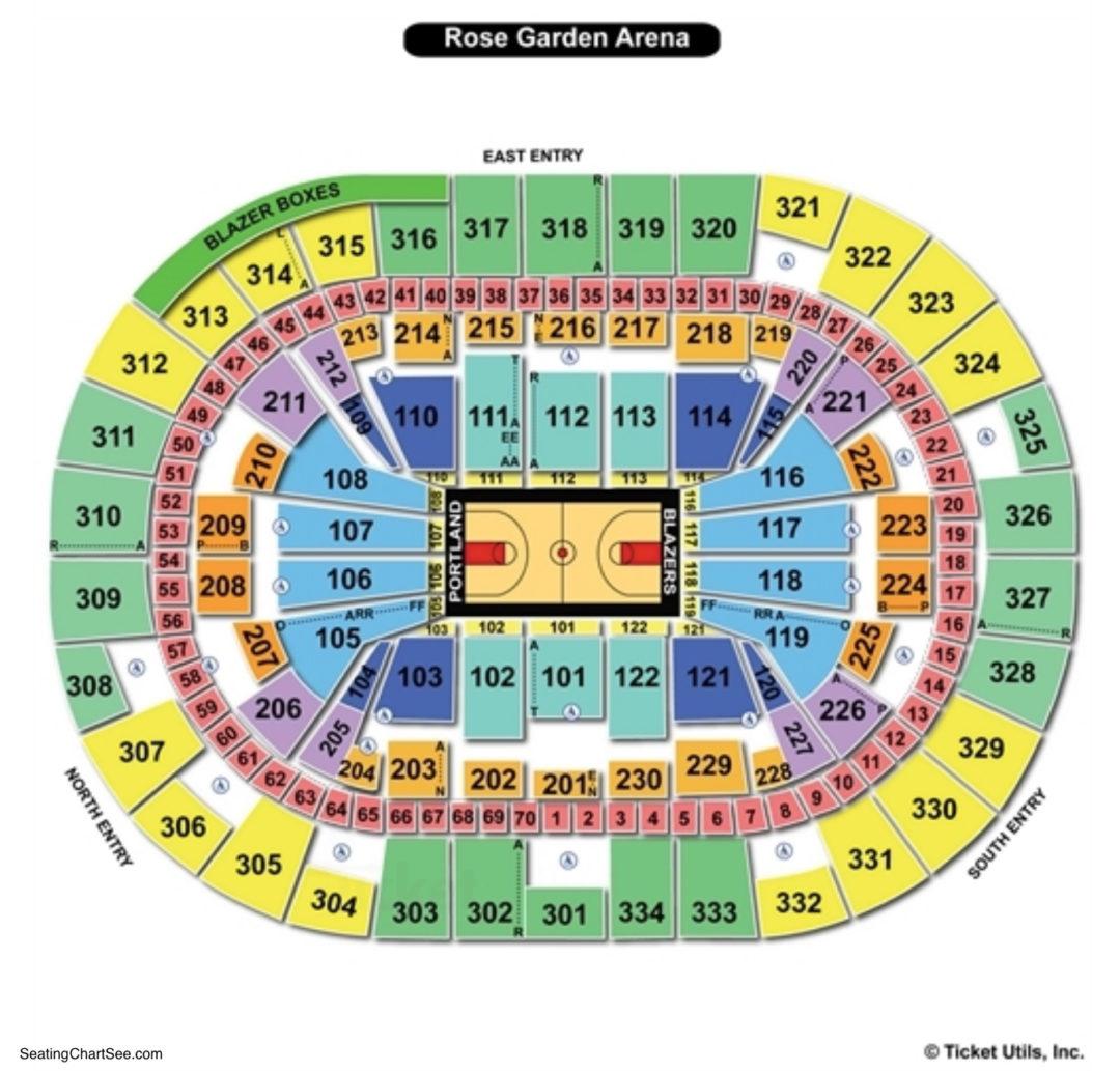 Moda Center Basketball Seating Chart