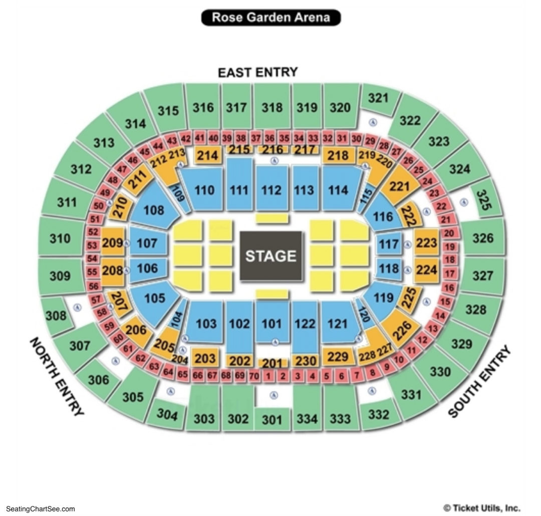 Moda center seating chart seating charts tickets