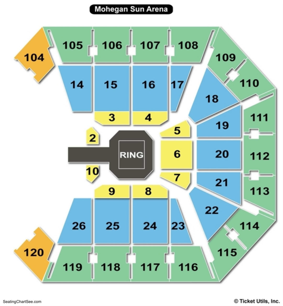 Mohegan sun arena seating chart seating charts tickets