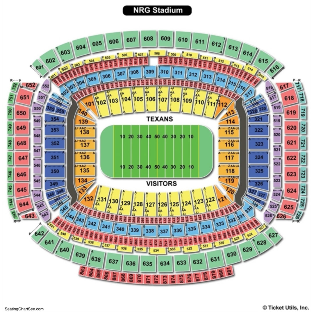 Nrg Stadium Seating Chart Seating Charts Amp Tickets
