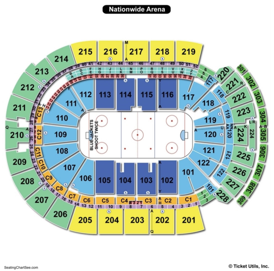 Nationwide arena seating chart seating charts tickets