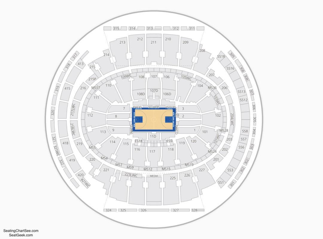 Msg Seating Chart Knicks Msg Seating Chart Knicks Elegant Madison
