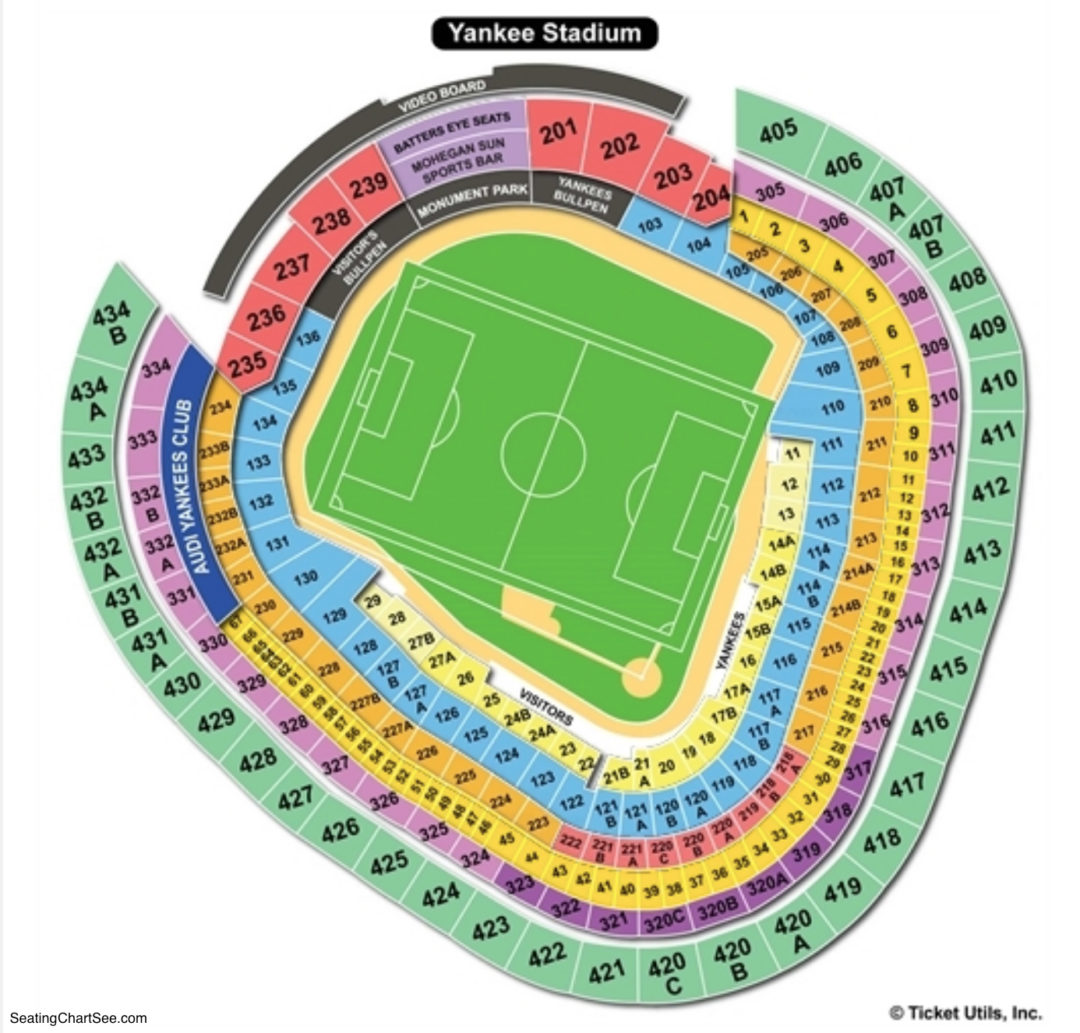 Yankee Stadium Seating Chart | Seating Charts & Tickets