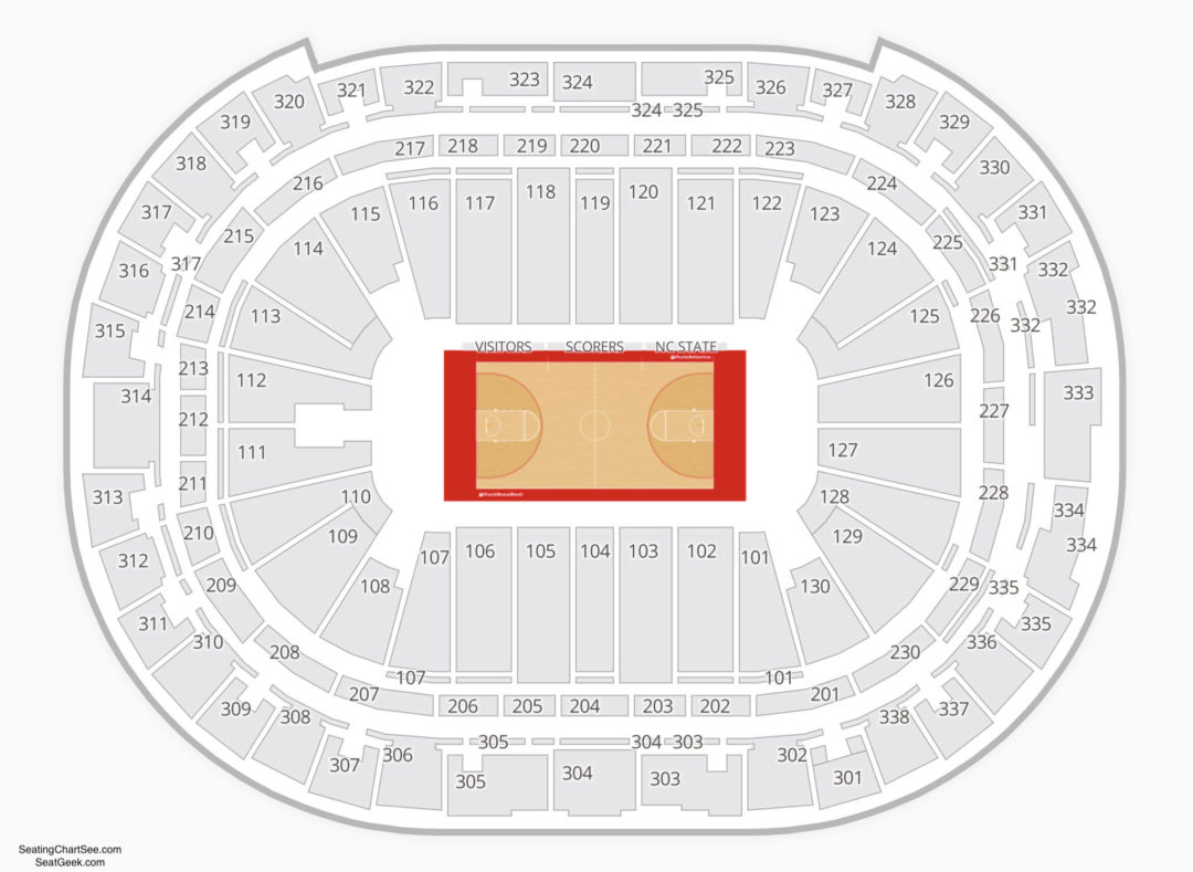 Pnc Arena Basketball Seating Chart Restaurants Near Havelock Nc