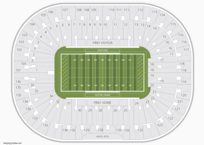Notre Dame Stadium Seating Chart Seating Charts Tickets