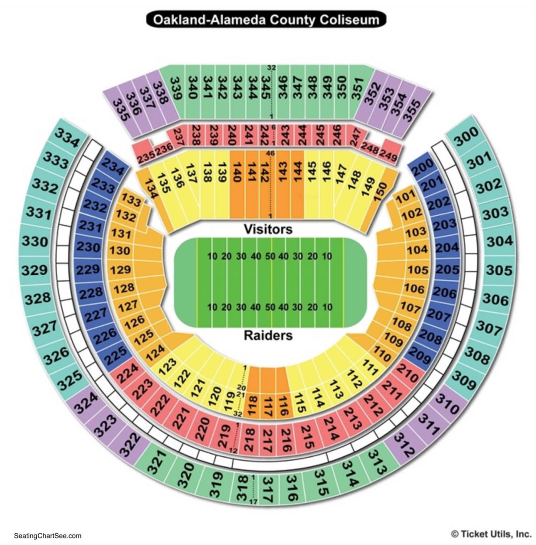 Oakland Alameda County Coliseum Seating Chart Seating Charts Tickets