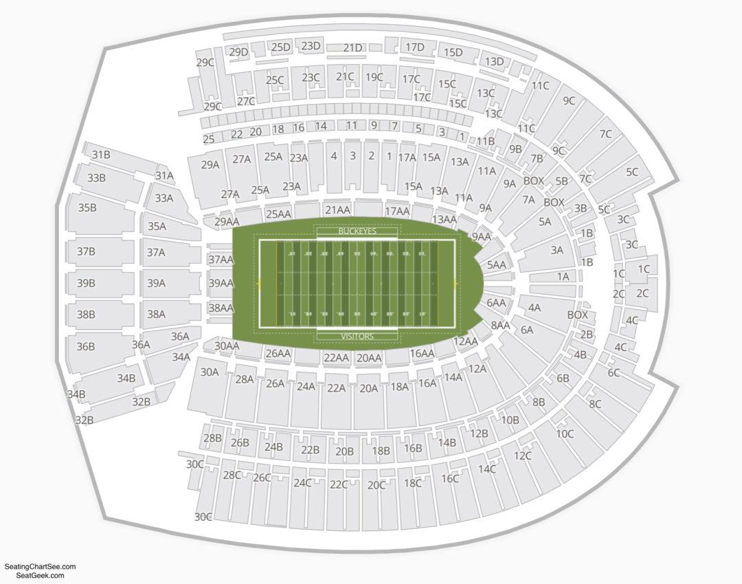 Ohio State Football Stadium Interactive Seating Chart