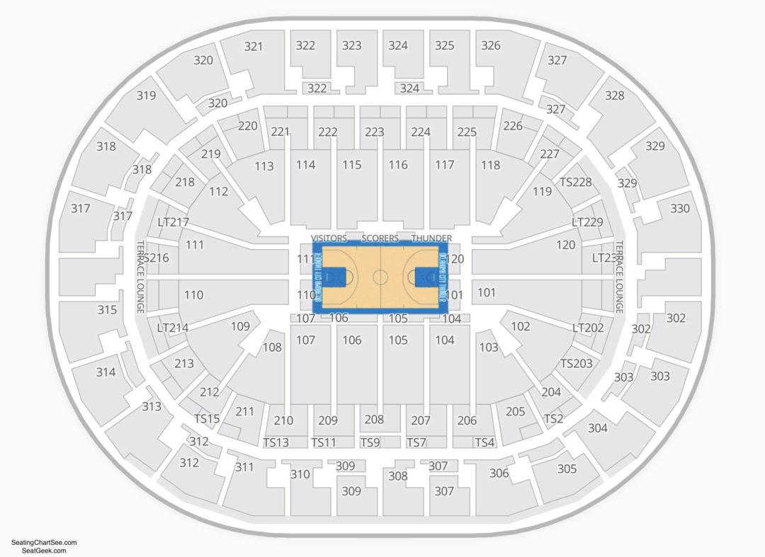 Chesapeake Energy Arena Seating Chart Seating Charts