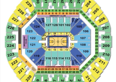 Oracle Arena Basketball Seating Chart