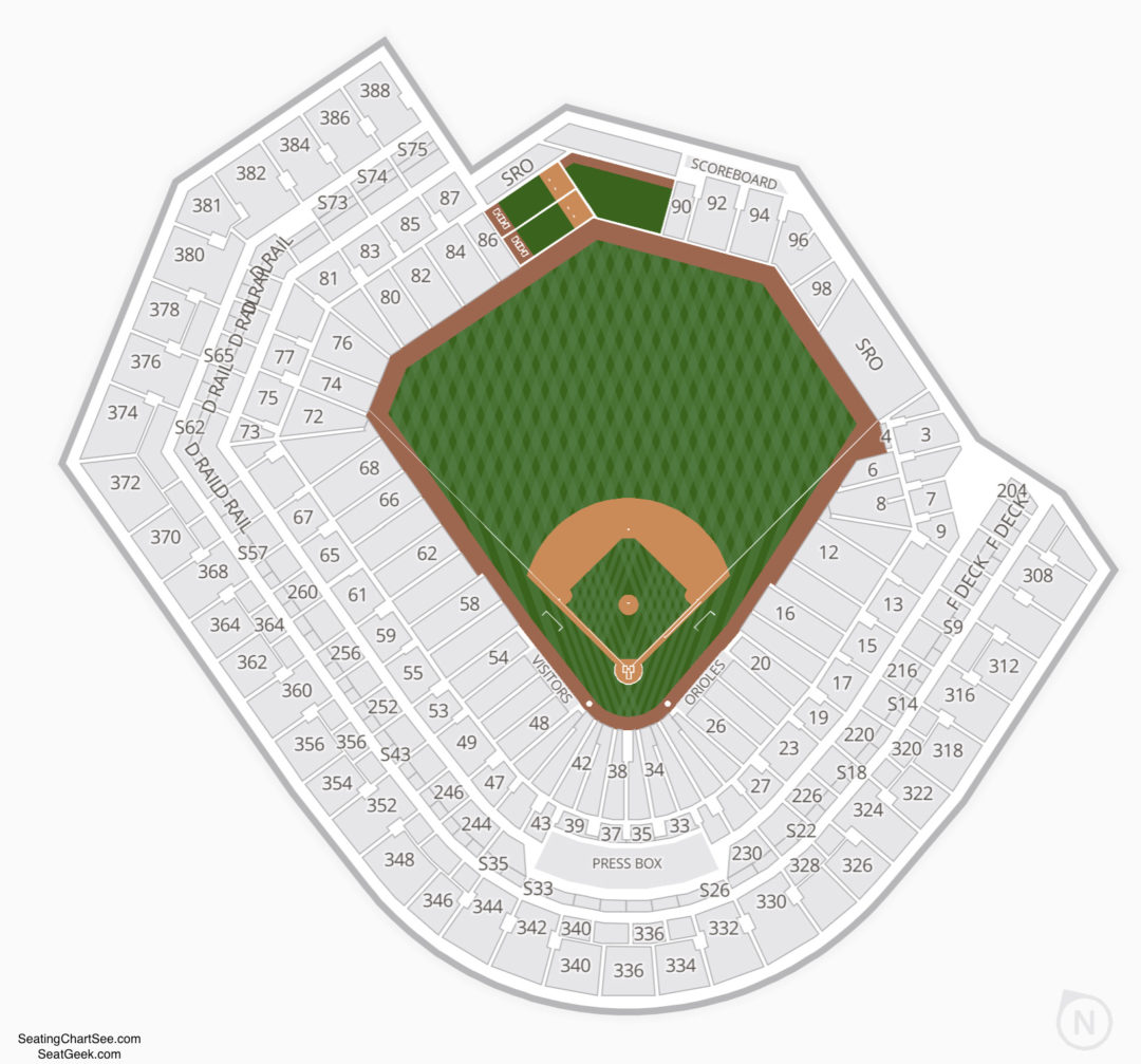 Oriole Park At Camden Yards Seating Chart Seating Charts Amp Tickets