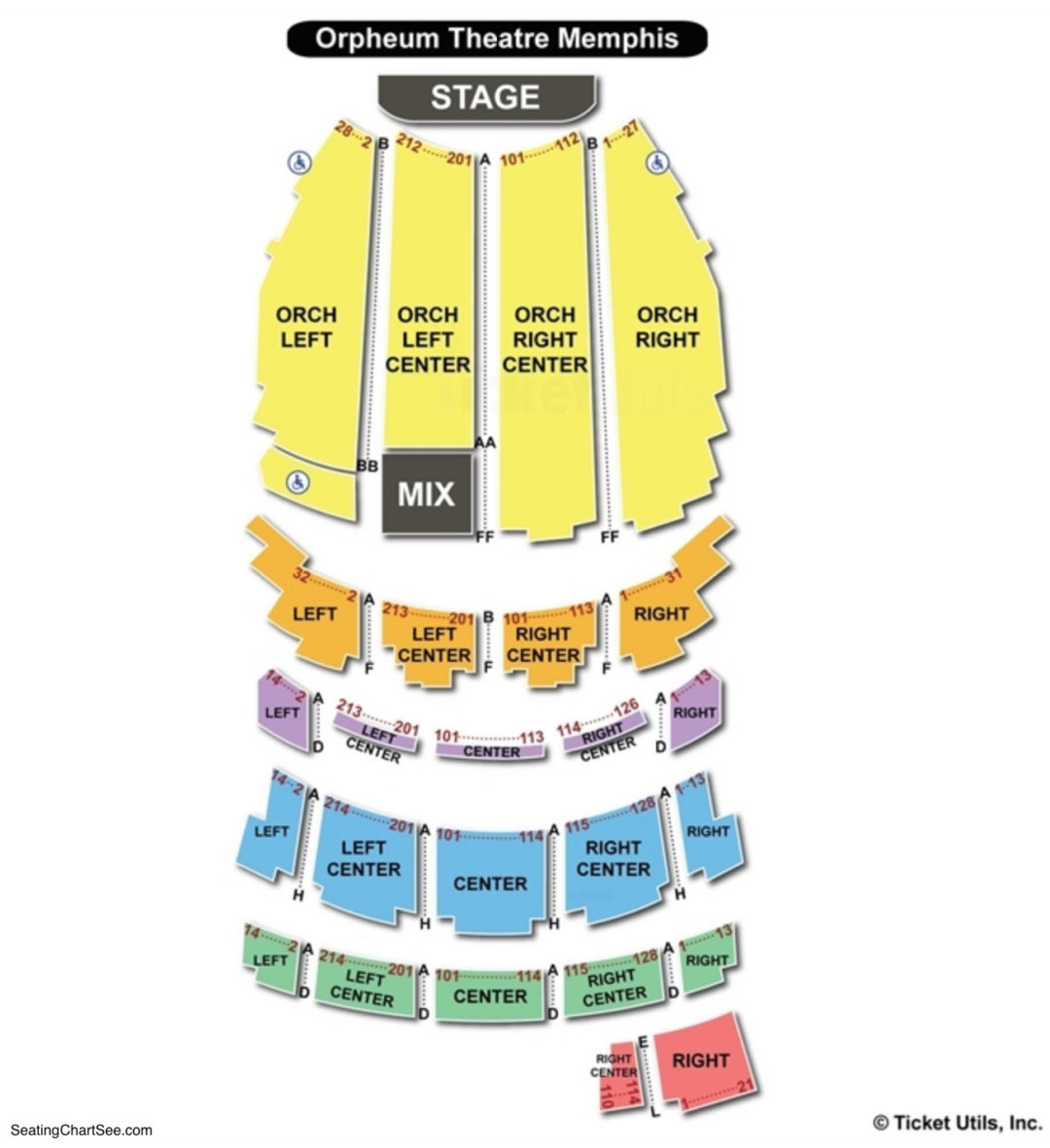 Orpheum Theatre Memphis Seating Chart Seating Charts Tickets