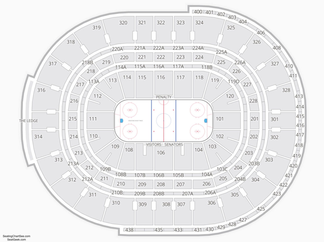 Canadian Tire Centre Seating Chart Seating Charts Amp Tickets