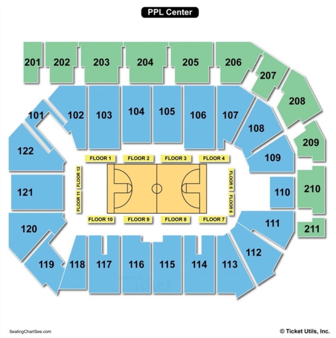 Ppl center seating chart seating charts tickets