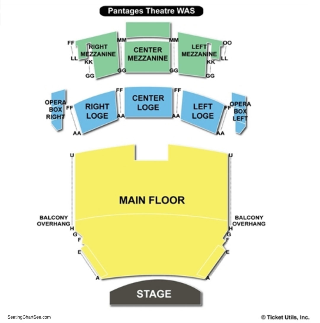 Pantages Theatre Tacoma Seating Chart