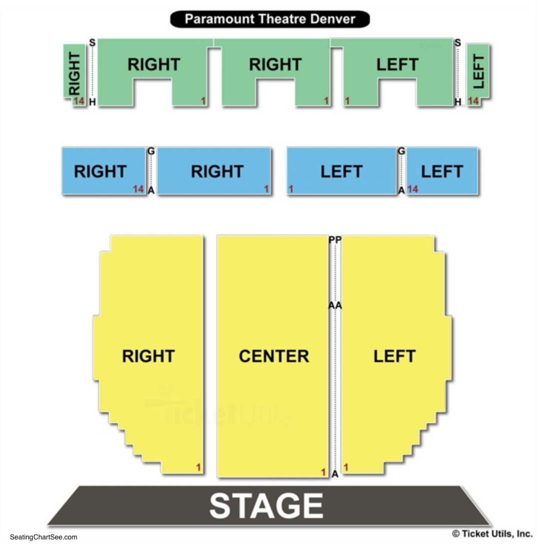Paramount Theatre Denver Seating Chart | Seating Charts ...