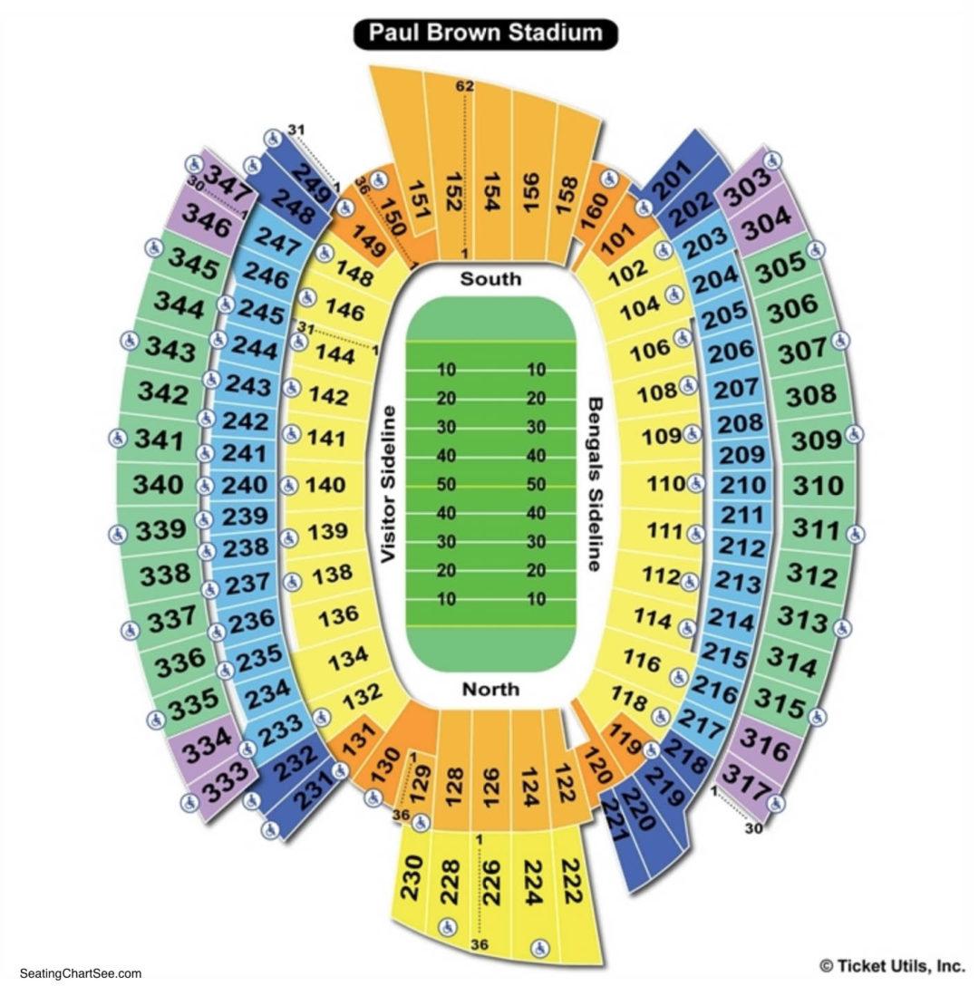 Paul Brown Stadium Football Seating Chart
