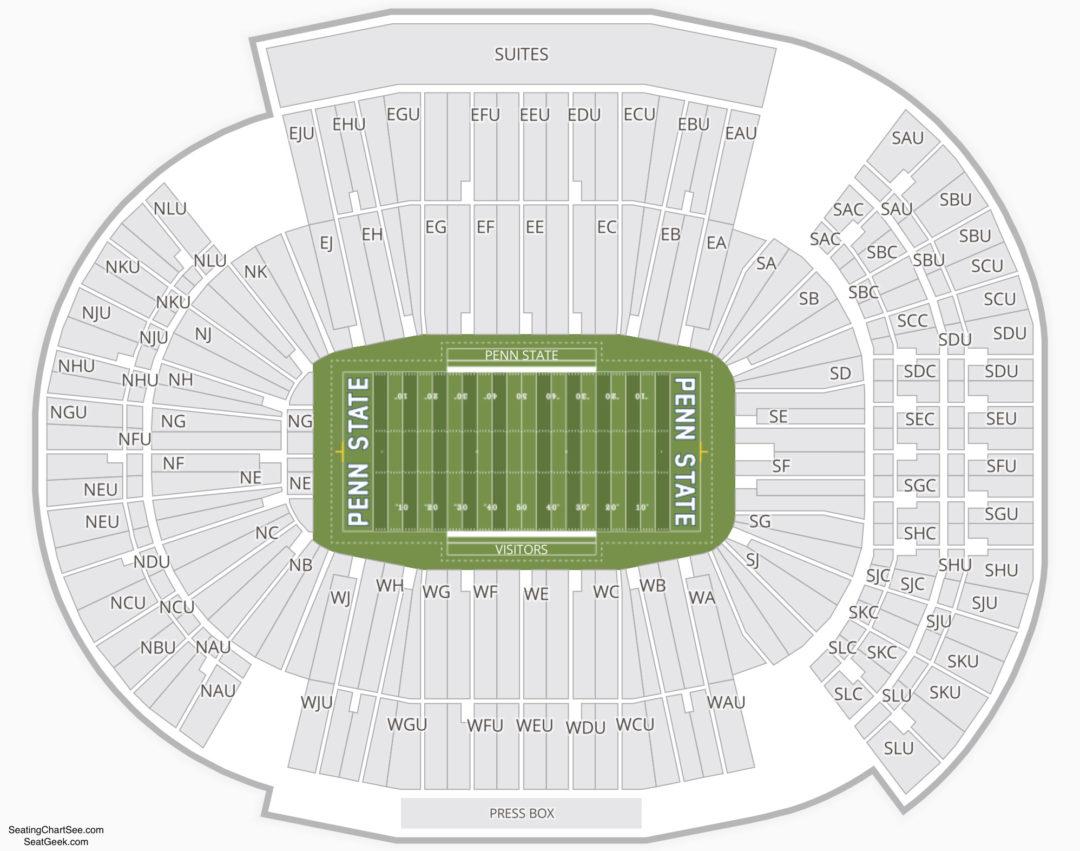 Beaver Stadium Seating Chart