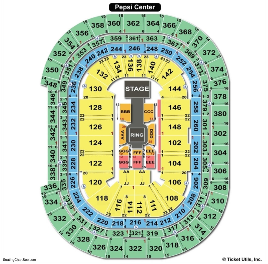 Pepsi Center: Seating Charts & Tickets