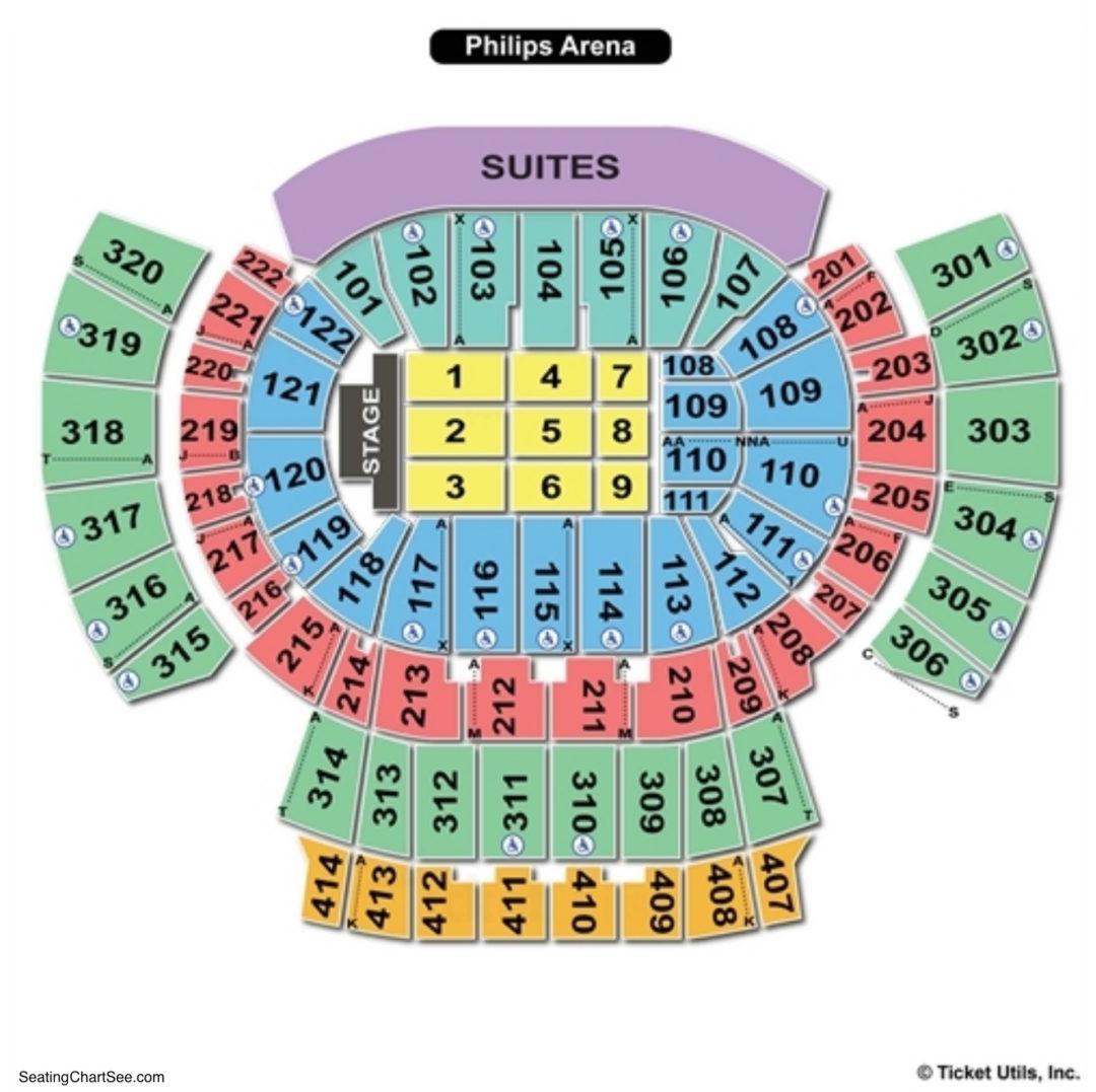 Philips arena hawks virtual seating chart