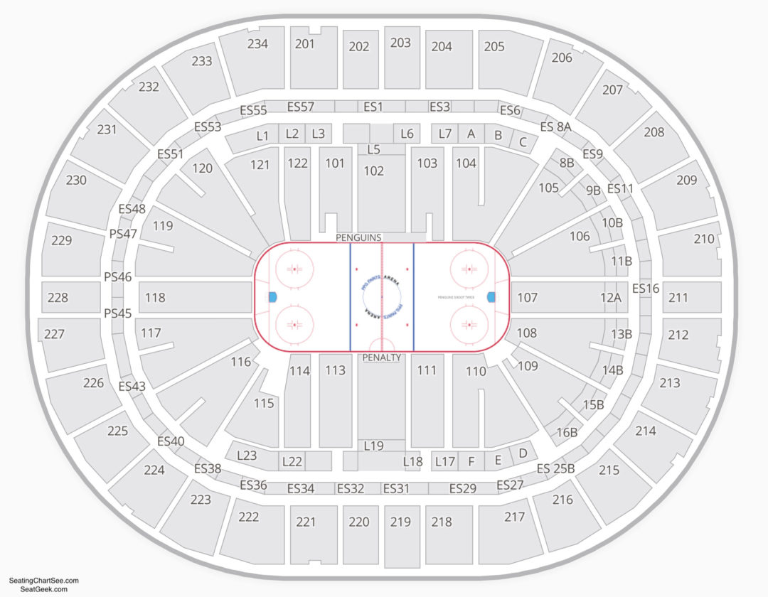 Ppg Paints Arena Seating Chart Seating Charts Amp Tickets