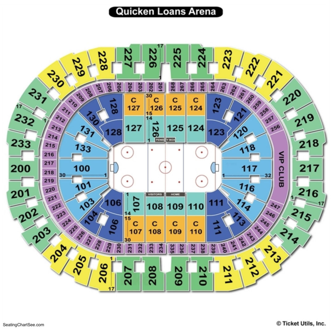 Quicken loans arena seating chart seating charts tickets