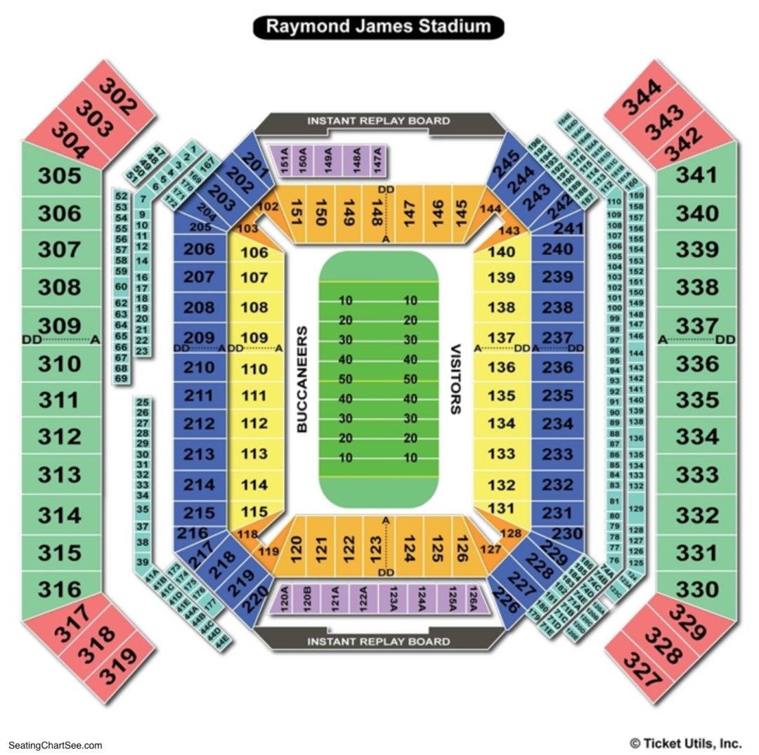 Raymond james stadium seating chart seating charts tickets