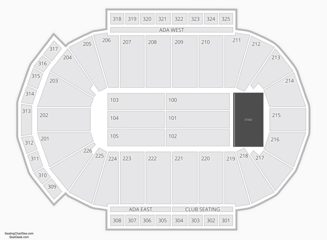 Resch Center Seating Chart Charts Tickets Kfc Yum Diagram Comedy