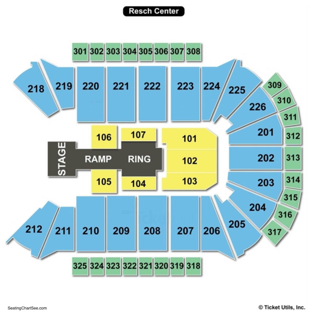Resch center seating chart seating charts tickets