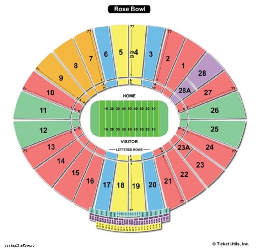 Rose bowl stadium seating chart seating charts tickets