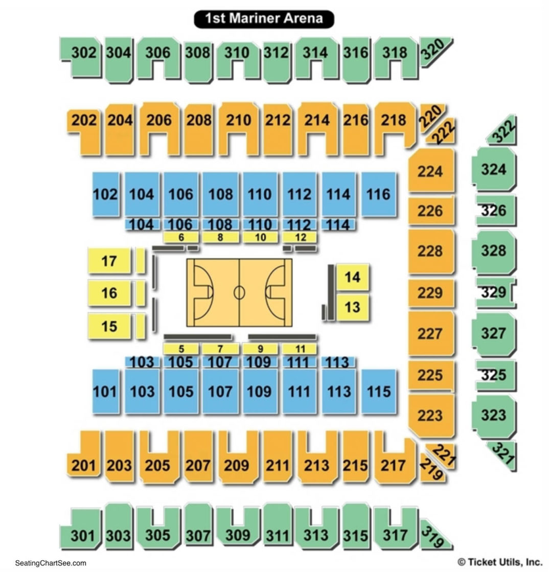1st Mariner Arena Interactive Seating Chart Brokeasshome Com