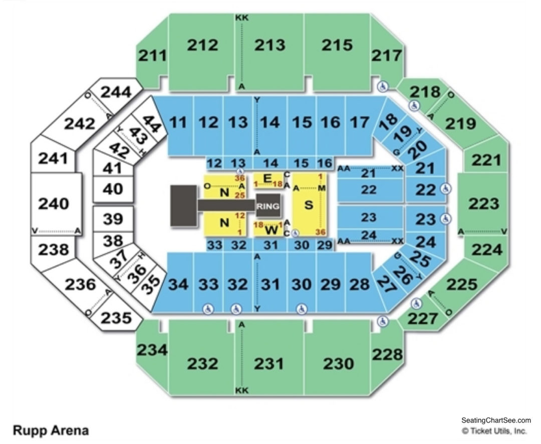 Rupp Arena Wwe Seating Chart