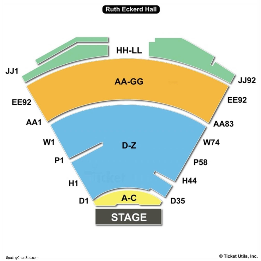 Ruth Eckerd Hall Concert Seating Charts