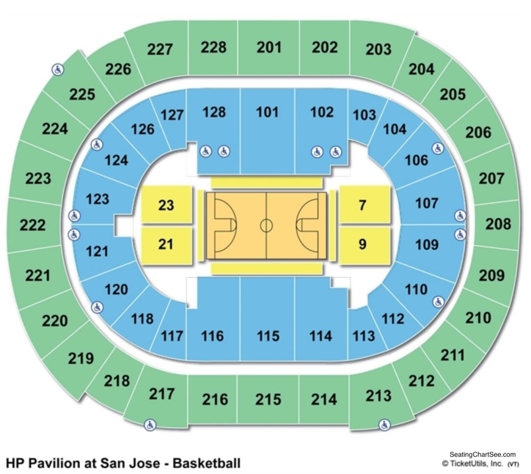 Sap Center Basketball Seating Chart