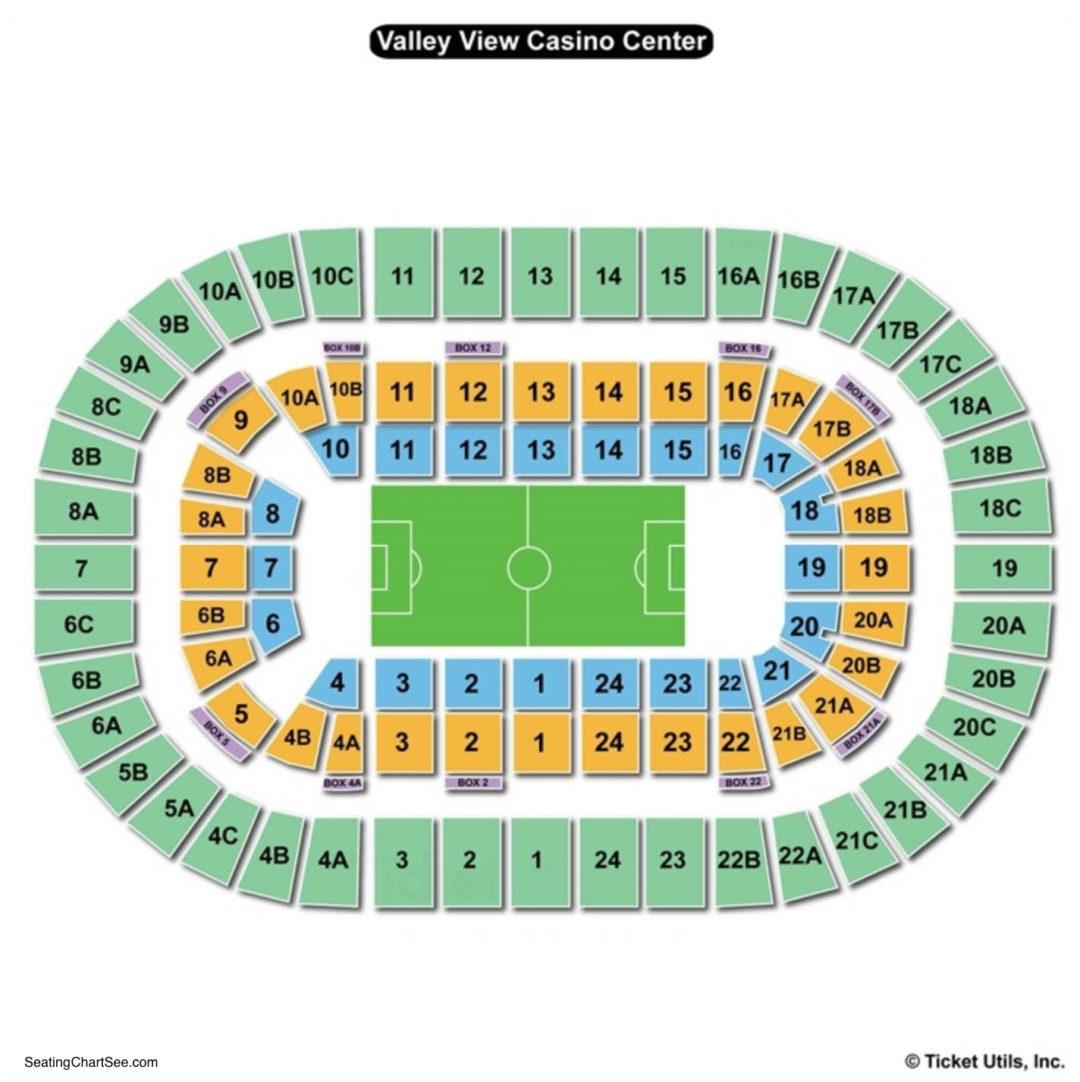Valley View Sports Arena Seating Chart Seat Viewer Pechanga Arena