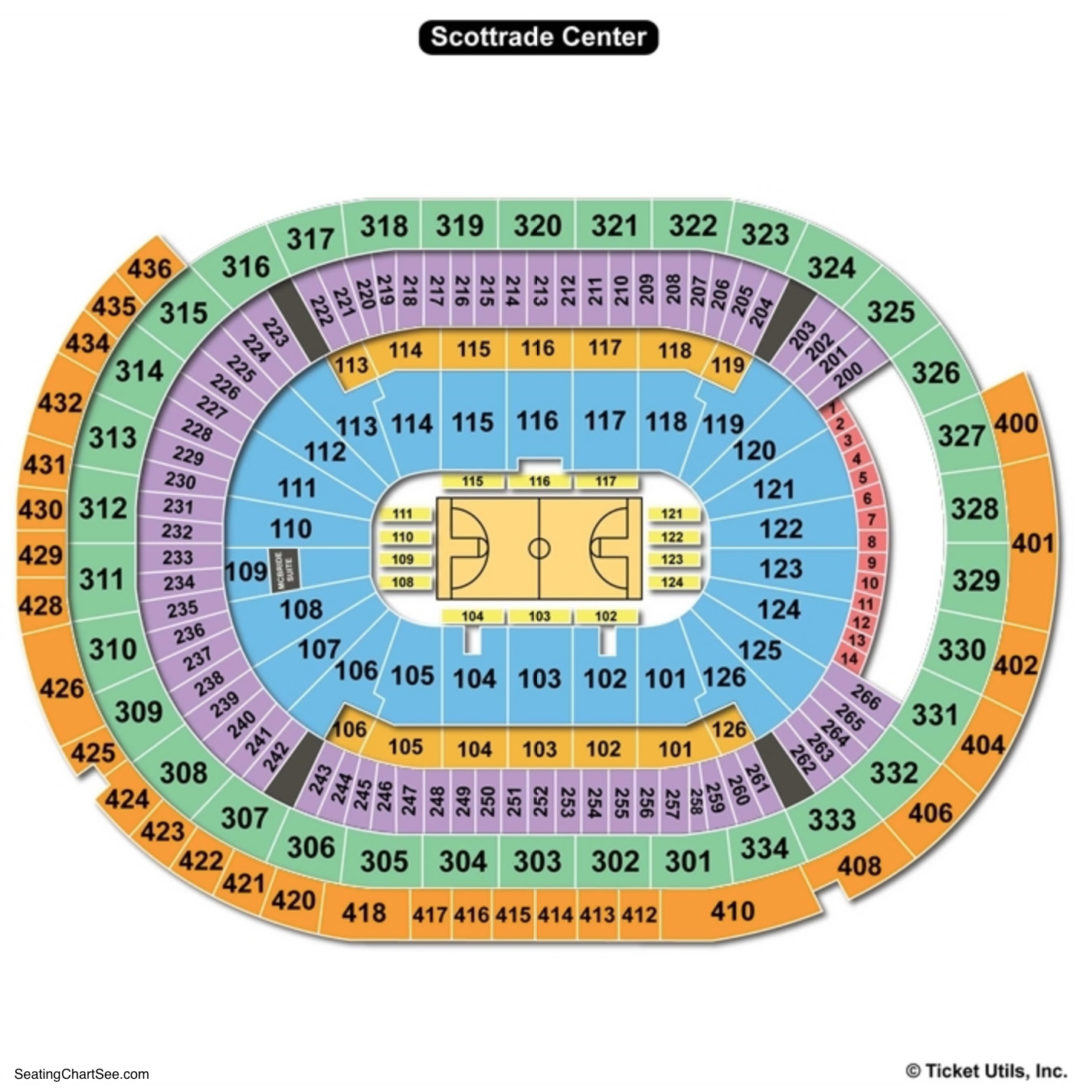 Scottrade center seating chart seating charts tickets