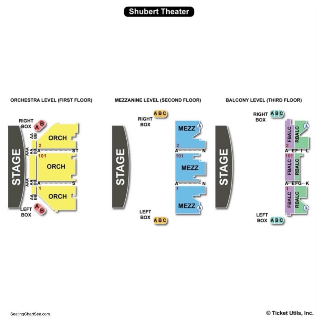 Shubert Theatre New York Seating Chart Seating Charts