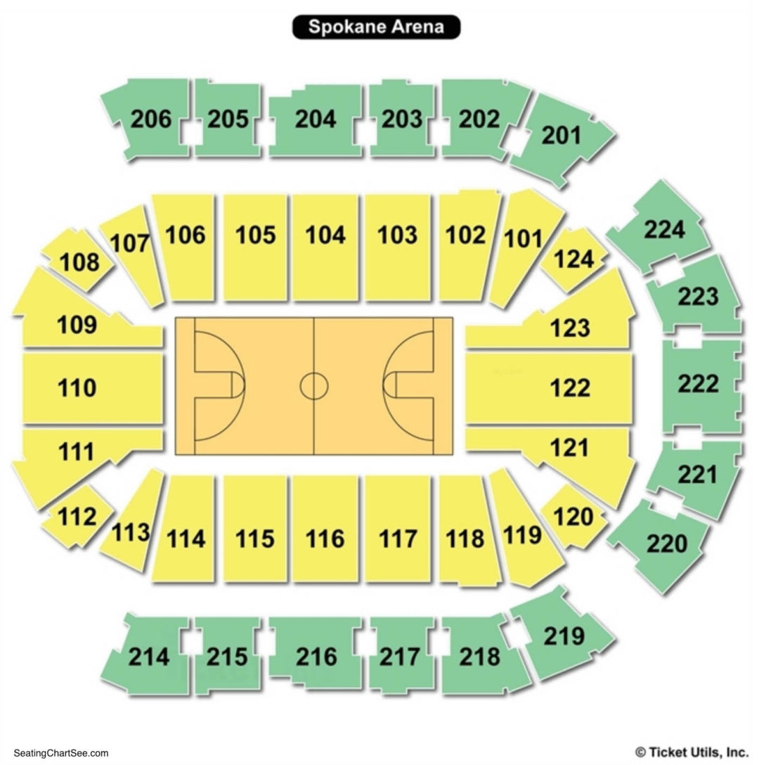 Spokane Arena Basketball Seating Chart