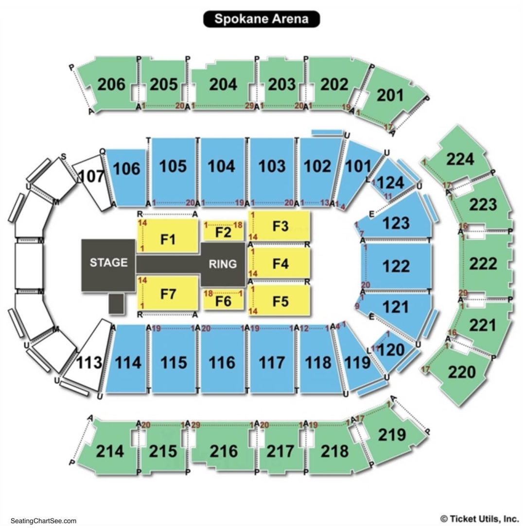 Spokane arena seating chart seating charts tickets